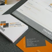 Eye catching business stationery designed in Tring